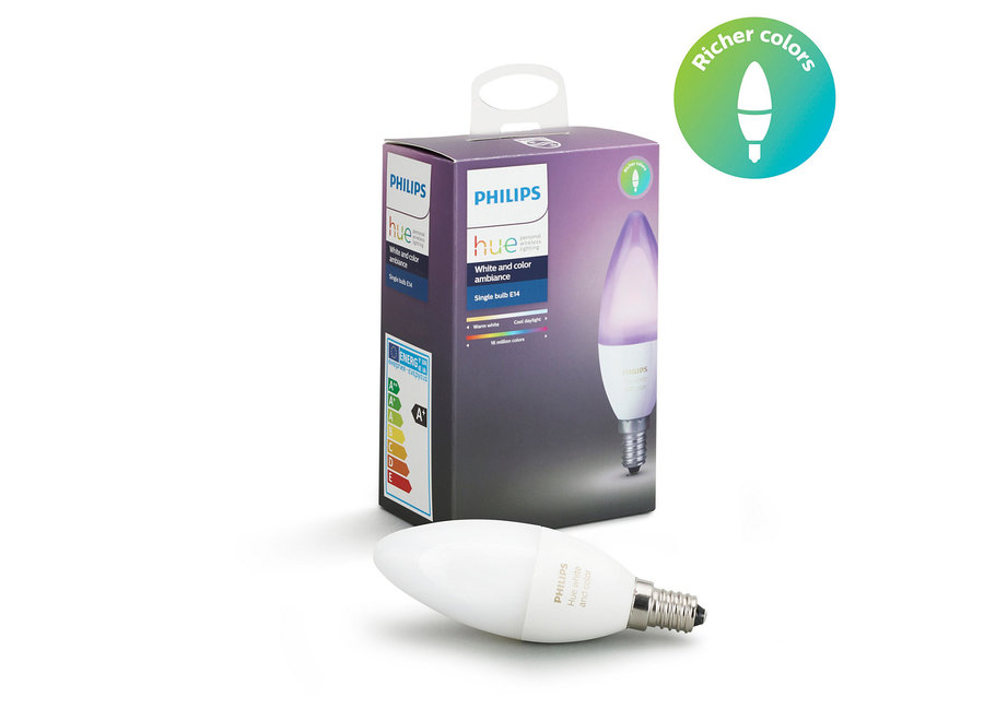 Philips Hue White and Color E14 Single Pack