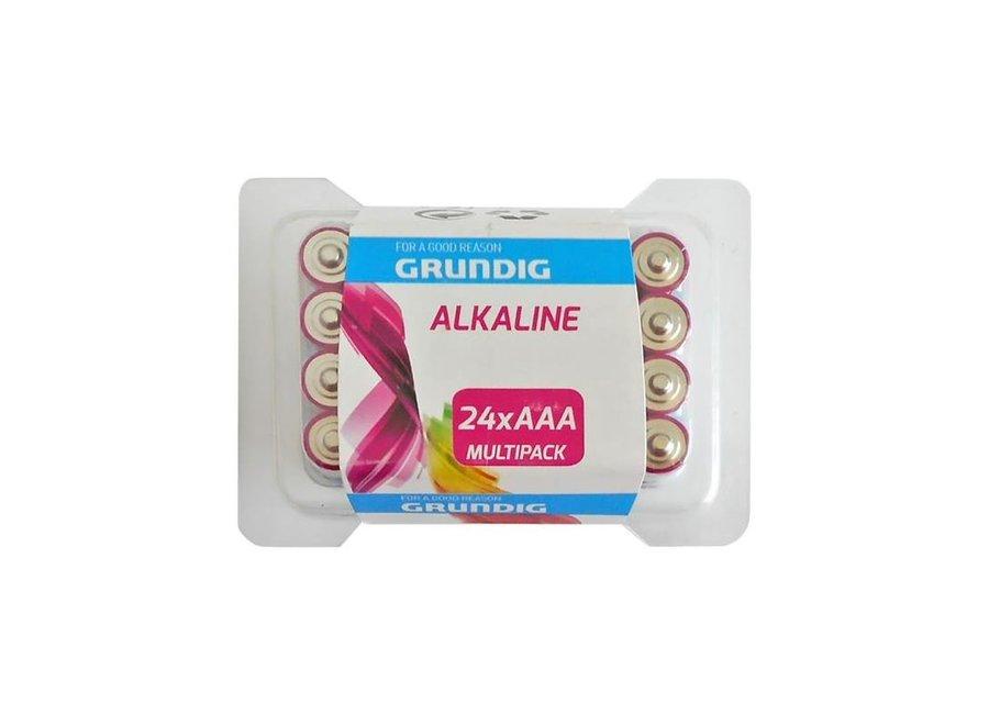 Grundig Alkaline AAA 24 stuks blister