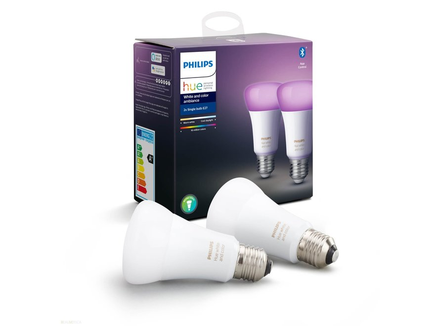 Philips Hue White and Color E27 Duo Pack (Bluetooth)