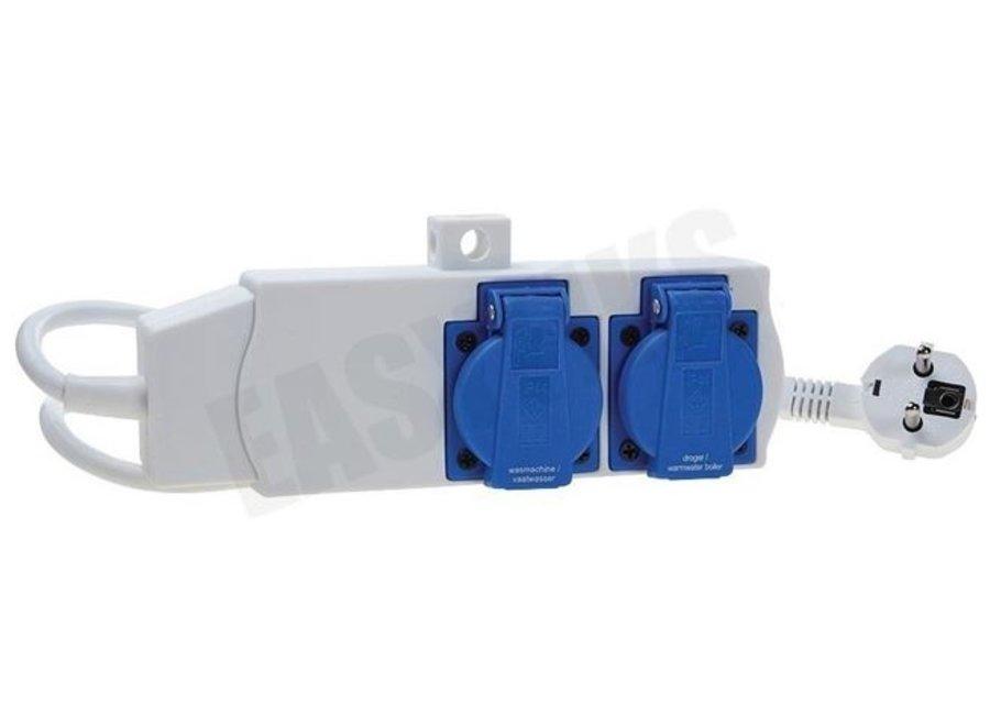 Combischakelaar wasmachine/droger gelijktijdig wassen en drogen