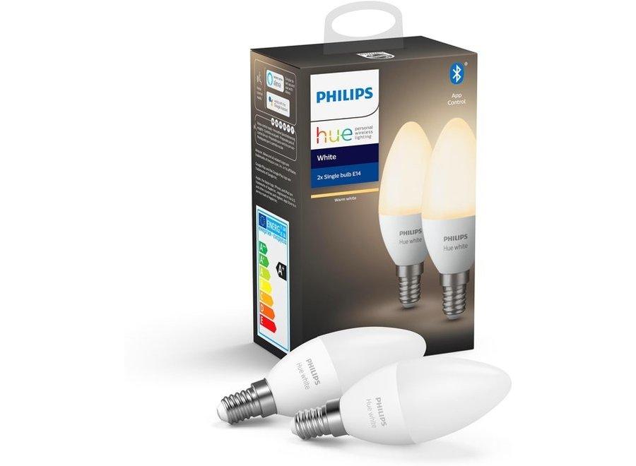 Philips Hue White Kaars E14 Duo Pack (Bluetooth)