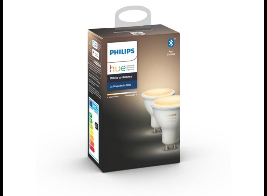 Philips Hue White Ambiance GU10 Duo Pack (Bluetooth)