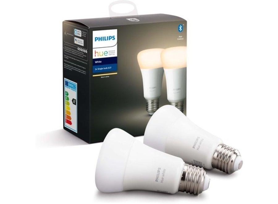 Philips Hue White E27 Duo Pack (Bluetooth)