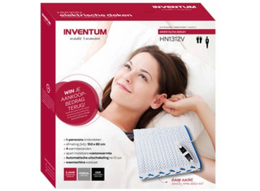 Inventum HN1312V 150x80 cm elektrisch deken