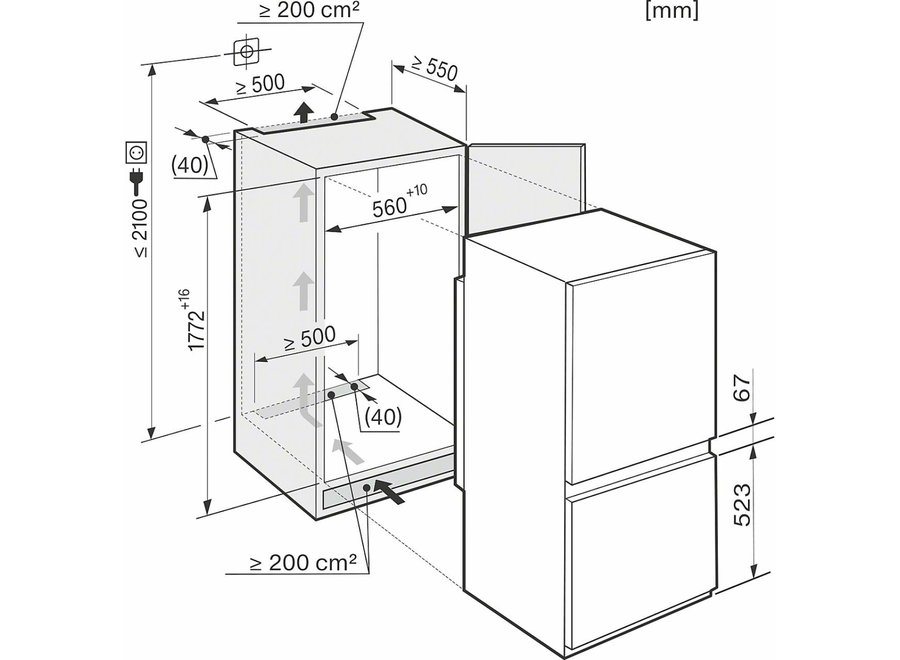 Miele KF37122 iD Inbouw koelvriescombinatie nis 178 cm