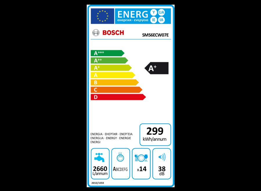 Bosch SMS6ECW07E Vrijstaande vaatwasser