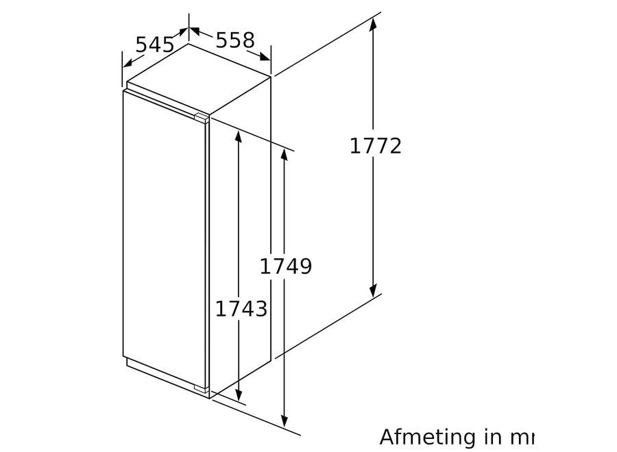 Siemens KI82LAFF0 Inbouw koelkast met vriesvak