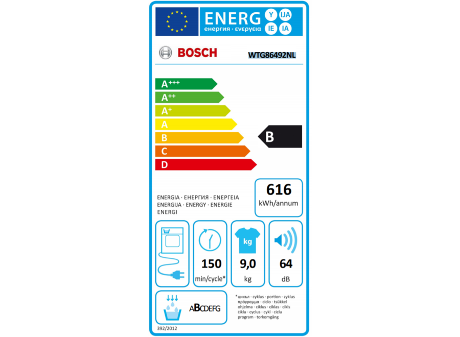 Bosch WTG86492NL Condensdroger