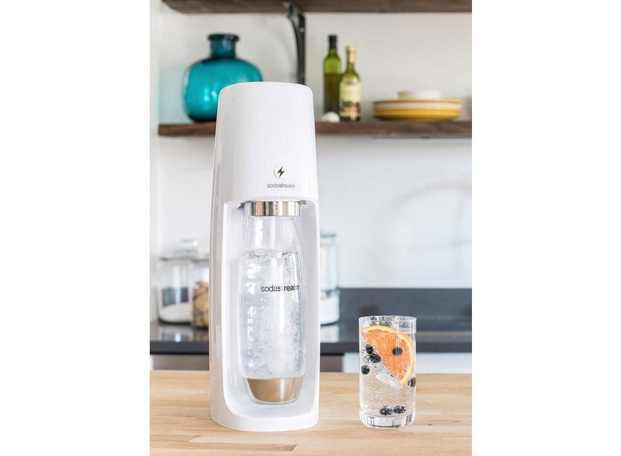 SodaStream Spirit One Touch White incl. 1 Fuse fles en 60L CO2 Cilinder