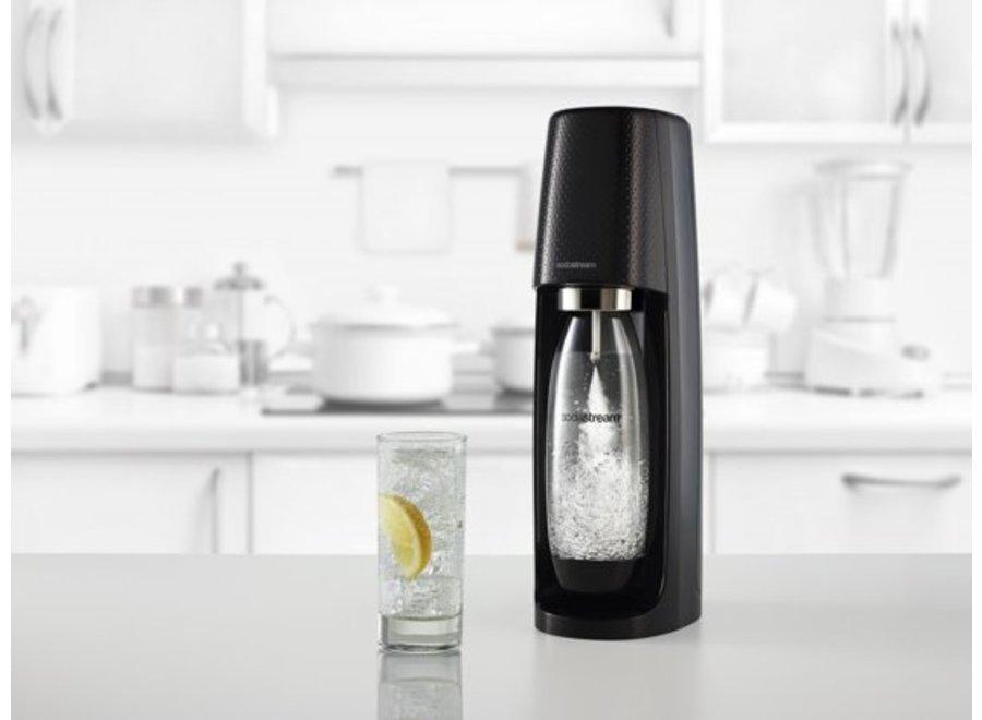 SodaStream Spirit Black Mega Pack (incl. 3 flessen + 60L CO2 cilinder)