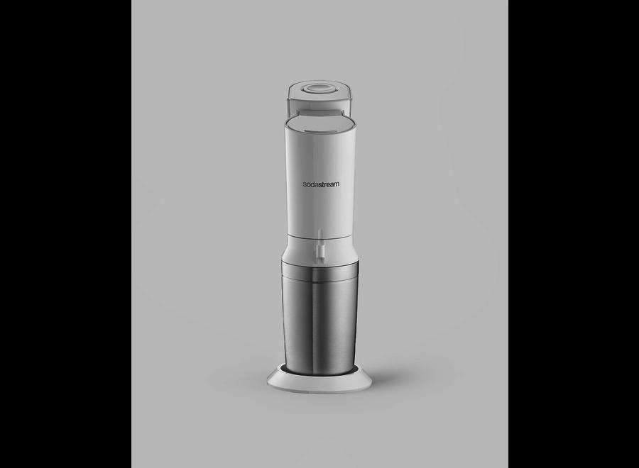 SodaStream Crystal White Megapack incl. 2 glazen karaffen en 60L CO2 cilinder