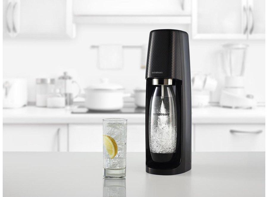 SodaStream Spirit Black toestel incl. 60L CO2 cilinder