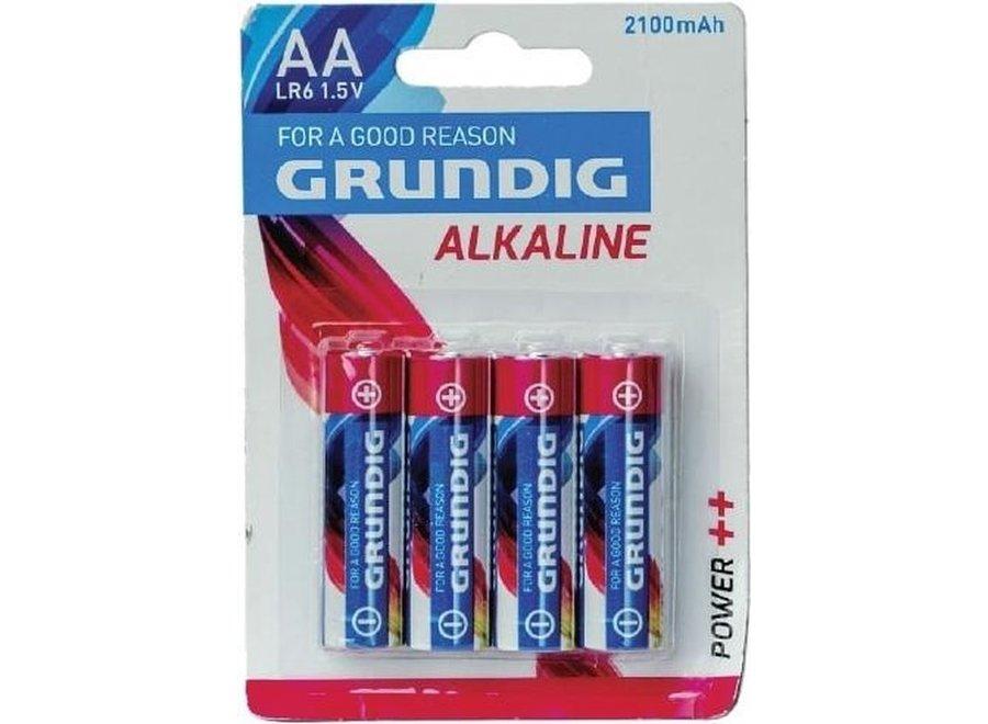 Grundig Alkaline Batterij AA 4pack