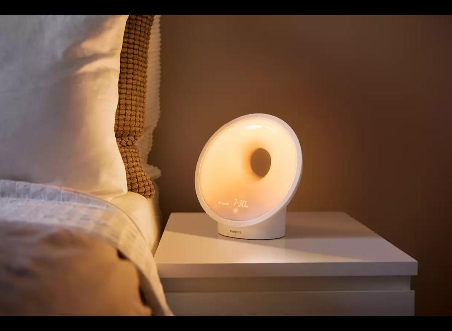 Philips Wake-Up Light HF3650/01 20 lichtinstellingen, 9 wekgeluiden, 3 wektijden, FM-Radio, Laad fun