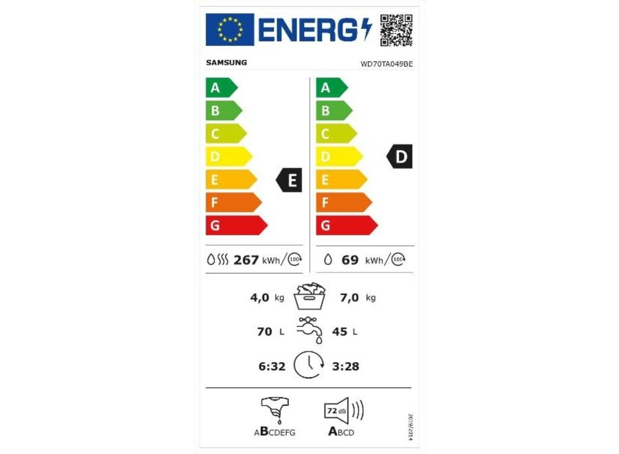 Samsung WD70TA049BE EcoBubble