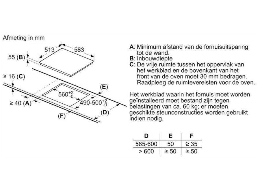 Siemens EH645FFB1M Inbouw Inductiekookplaat