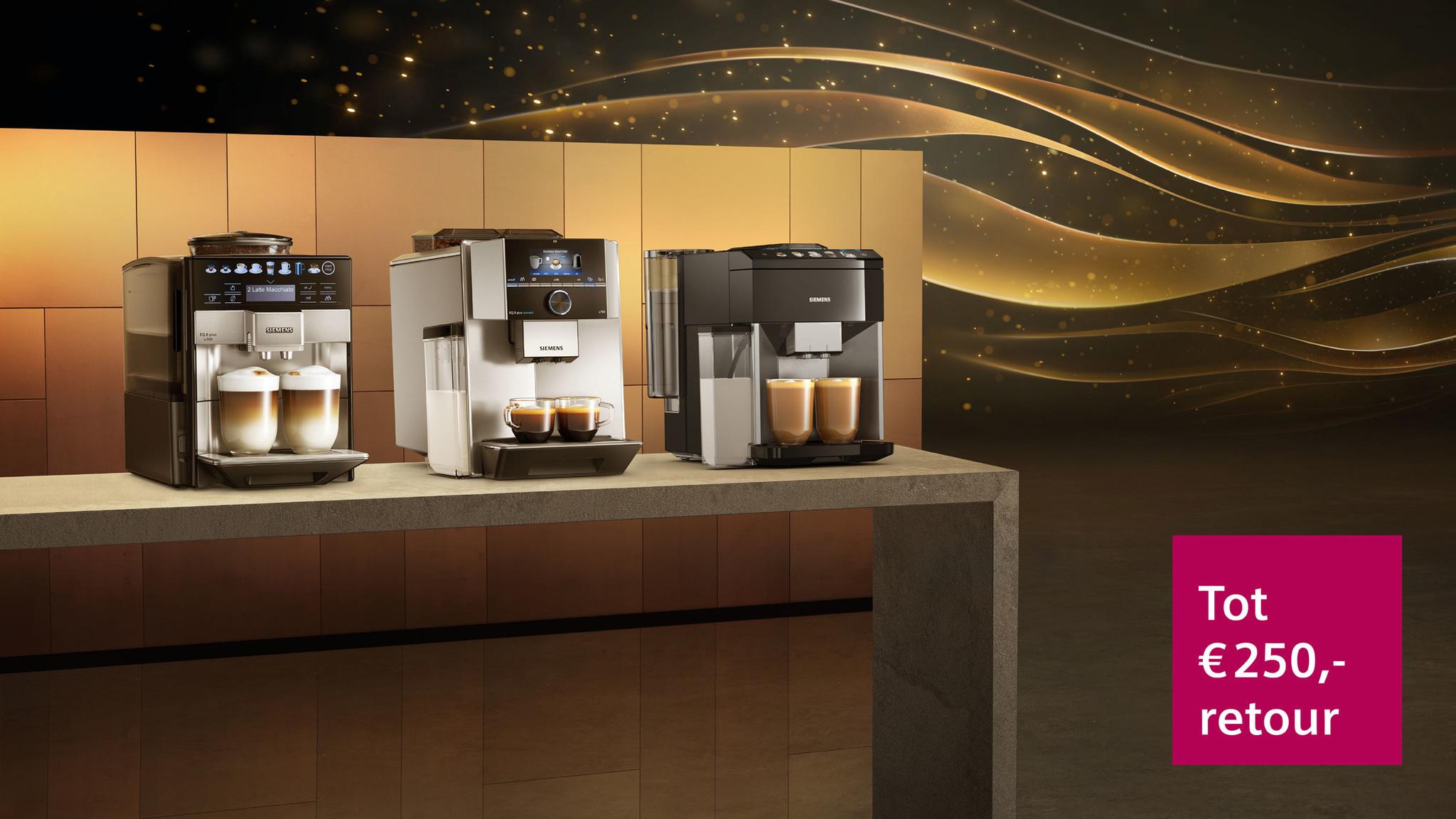 Cashbackactie Siemens EQ espresso volautomaten