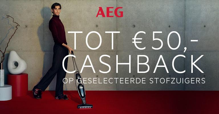 Cashbackactie AEG steelstofzuigers bij Piest