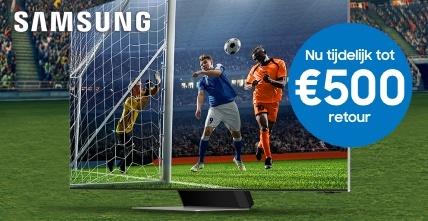 Ontvang tot €500 retour bij aankoop van een Samsung (Neo) QLED TV