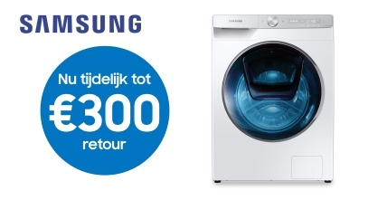 Cashback actie wasmachine of was-droogcombinatie Samsung