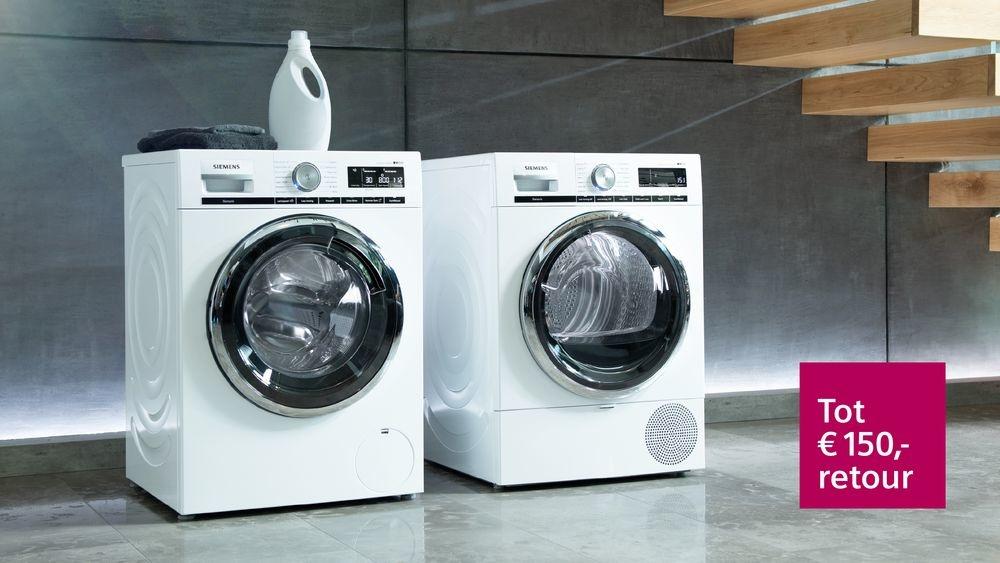 Nú tot € 150,- retour op geselecteerde intelligente wasmachines van Siemens