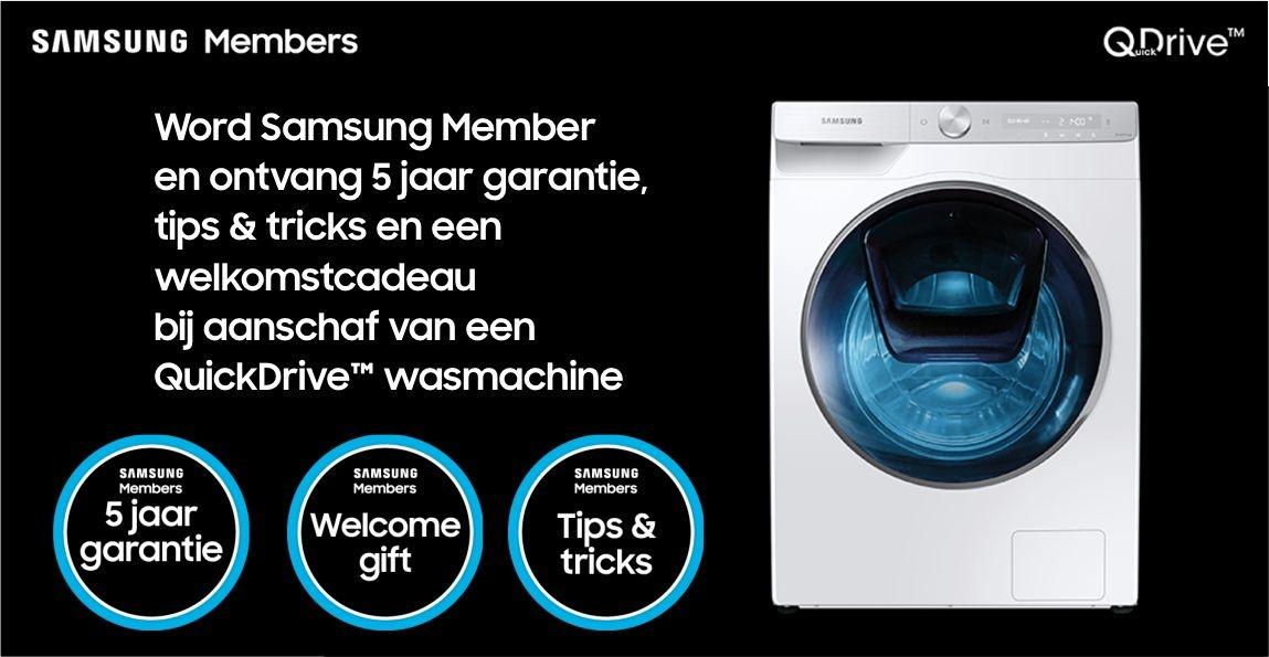 5 jaar garantie op een QuickDrive™ wasmachine