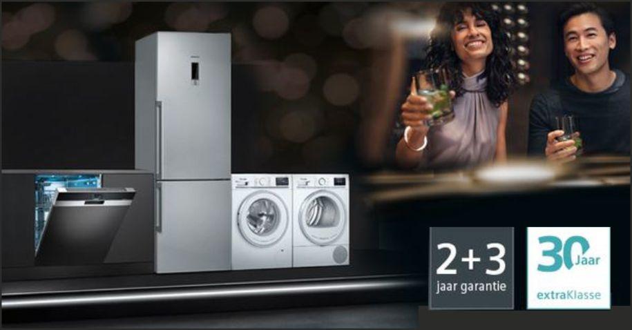 5 jaar garantie op Siemens extraKlasse