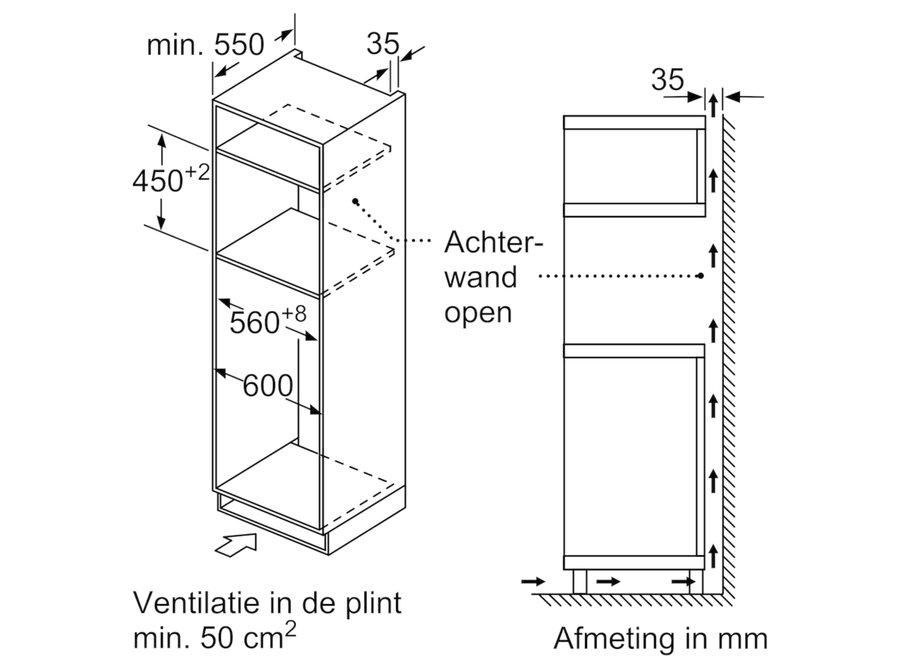 Bosch CMA583MS0 Inbouw oven met magnetron