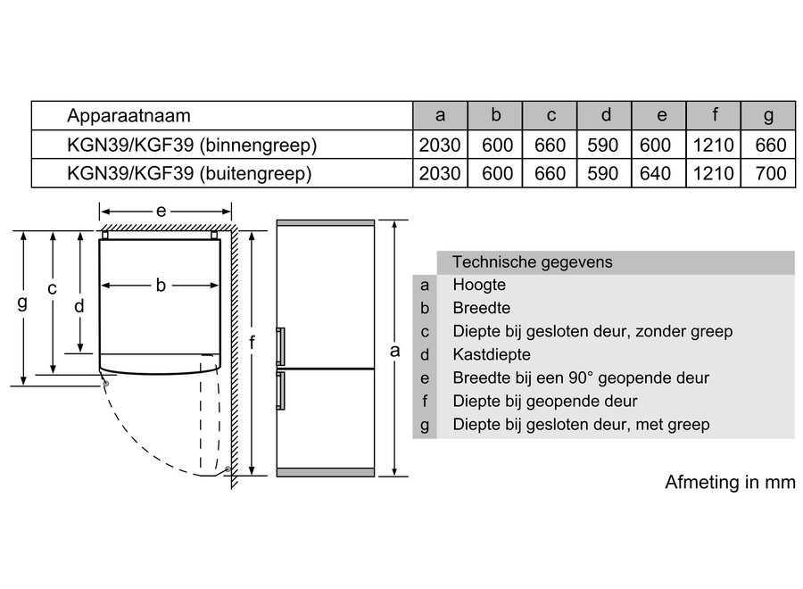 Bosch KGN39AIEQ Koelvriescombinatie