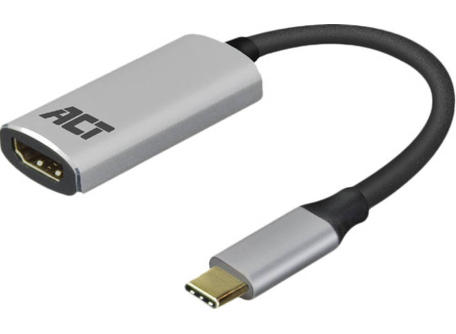ACT AC7010 USB-C naar HDMI female adapter, 4K