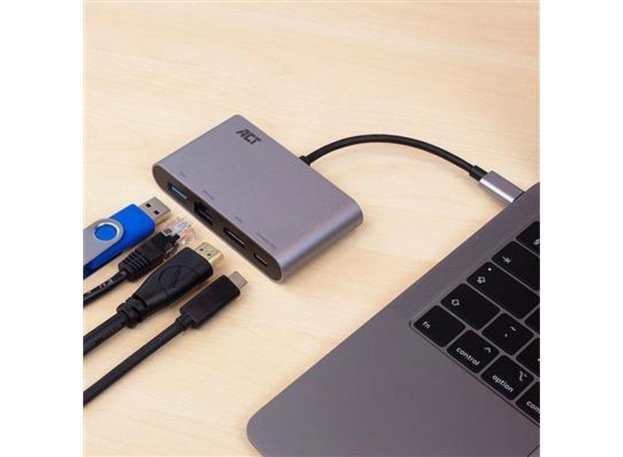 ACT AC7040 USB-C 4K Multiport Dock adapter