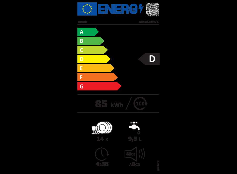 Bosch SMS6ECW63E Vrijstaande vaatwasser