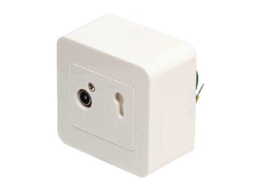 Antenne wandcontactdoos signaalovernamepunt 2.5 db wit