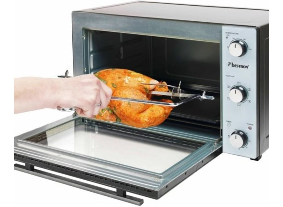 Bestron AOV31PS - Oven met draaispit en pizzasteen