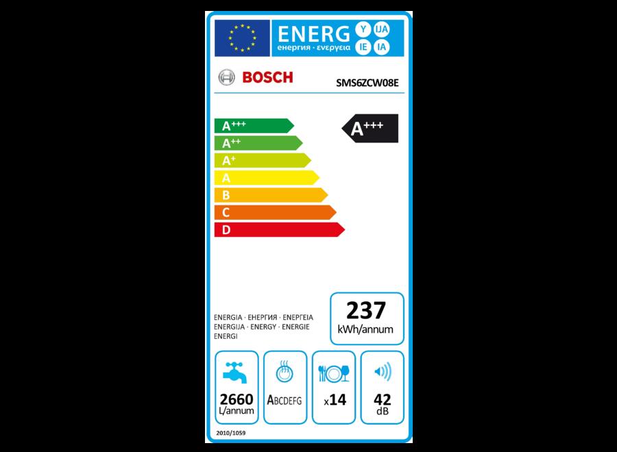 Bosch SMS6ZCW08E Vrijstaande vaatwasser
