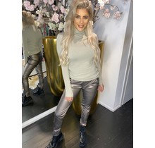 Leather Jogger Silver Ambika