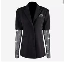 Diamond Sleeves Blazer