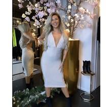 Gold Glitter Wrap Dress