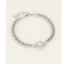Armband Chunky Initials Silver