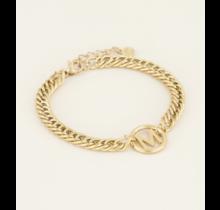 Armband Chunky Initials Gold