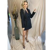 Blazer Dress With Belt Black