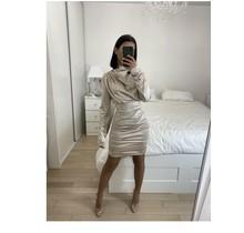 Satin Dress Beige