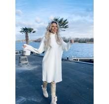 Hometown Sweater Dress White