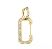 Double Ring Earring Gold