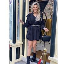 Zoe Ruffle Dress Black