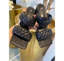 Double Braid Heels Black
