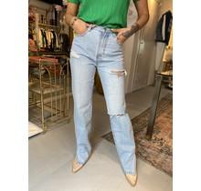 Destroyed Straight Split Jeans 1535
