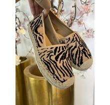 Zebra Camel Loafers