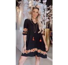 English Garden Dress Black