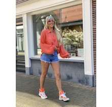 Hot Like Summer Blouse Coral